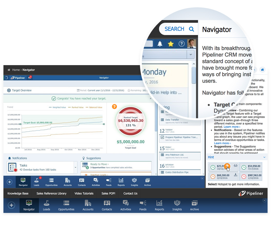 Pipeliner CRM: Intuitive Interface