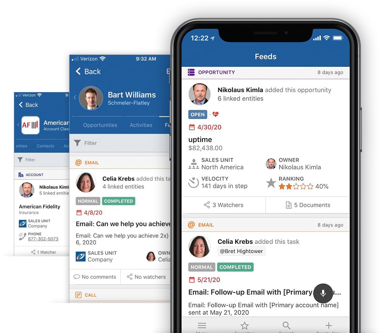 Mobile CRM App feed