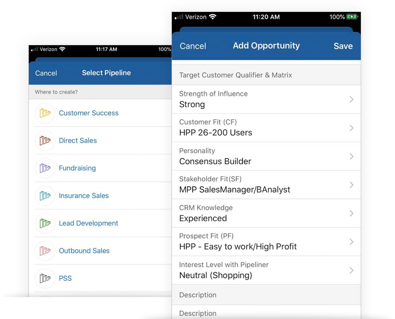 Customization for Mobile CRM App with Pipeliner CRM