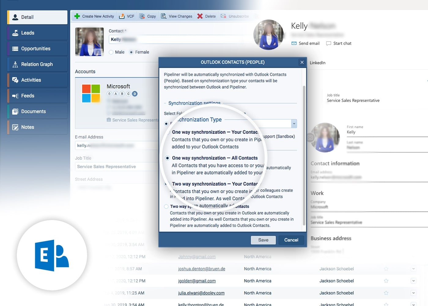 Microsoft 365 & Exchange Contacts with Pipeliner CRM