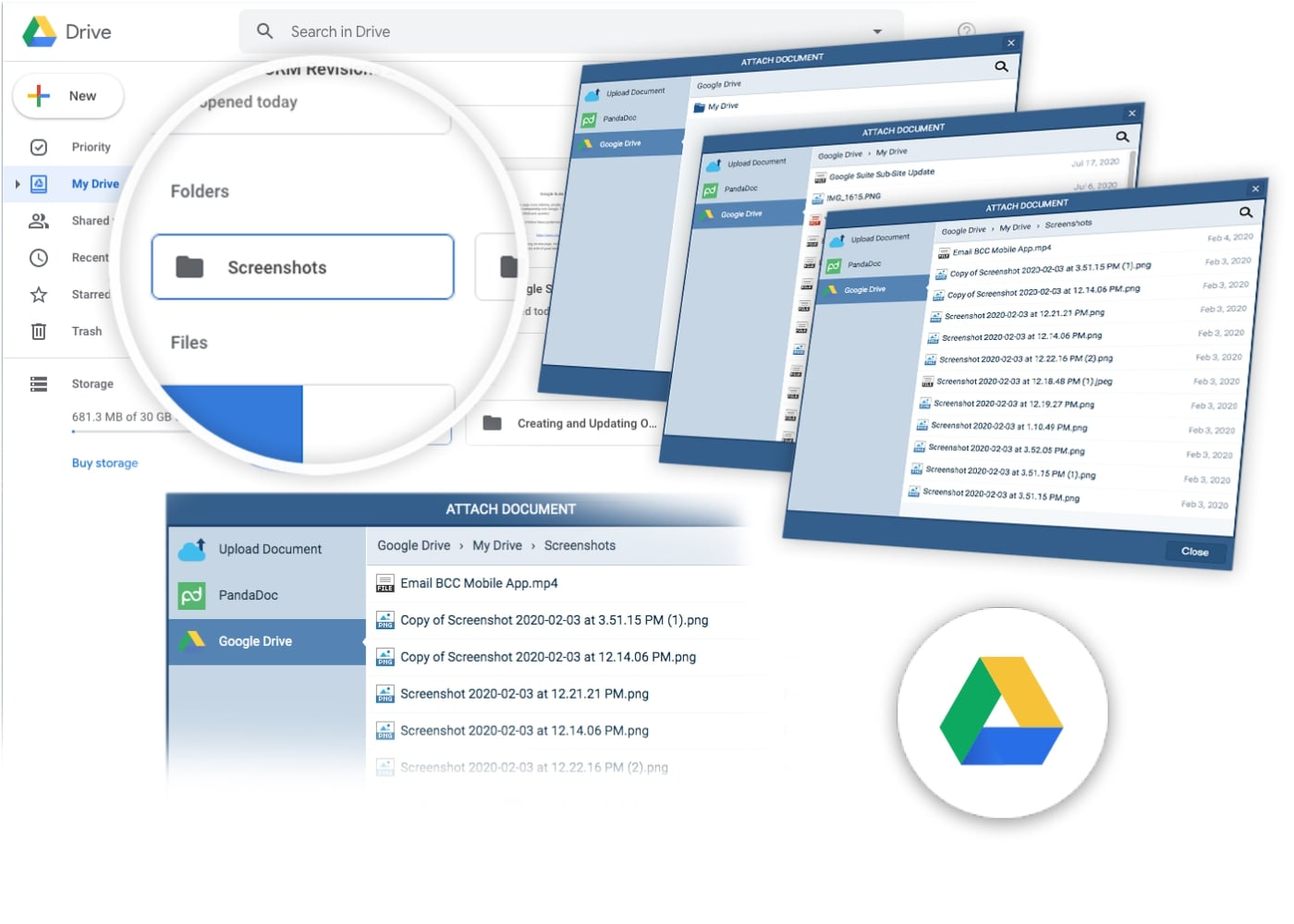 Google Drive integration with Pipeliner CRM