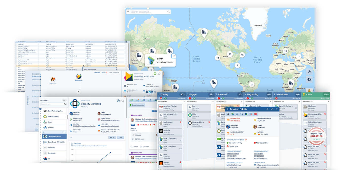 Pipeliner CRM software multiple views